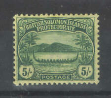 Solomon Islands 1910 SG 17 5/ Green VF UMM MNH