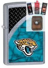 Zippo 29365 Jacksonville Jaguars NFL Lighter + FUEL FLINT WICK POUCH GIFT SET