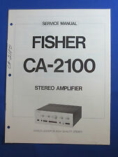 FISHER CA-2100 PREAMPLIFIER SERVICE MANUAL ORIGINAL GOOD CONDITION