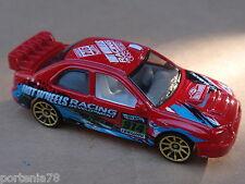 2014 Hot Wheels SUBARU IMPREZA WRX 108/250 Road Rally LOOSE Red