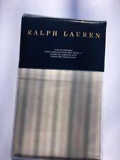 New Ralph Lauren pillowcases set 2 king Dominique stripe Francoise pink cream
