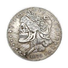 US Morgan Skeleton Zombie Skull Dollar Hobo Fantasy Coin 1878 Vingter Coin