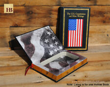 Hollow Book Safe - The US Constitution Flag Cover - Leather Bound Book Safe