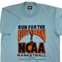 VTG 90s The Guy's Man NCAA Basketball T-Shirt Mens Large Bar Sports Trivia USA