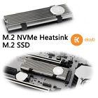 EK M.2 NGFF Aluminium Heatsink 2280 NVMe SSD Thermal Pad Cooling Fin Silver