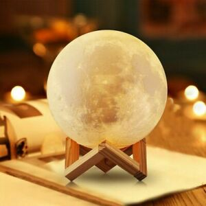 3D Printing Moon Lamp USB LED Night Lunar Light Moonlight Remote TouchSwitch