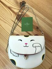 Kate Spade Tonti Street Lucky Cat Kitty Chain Strap Crossbody Shoulder Bag EUC
