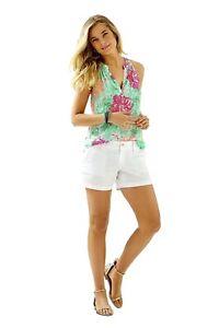 Lilly Pulitzer NWT Callahan Shorts Resort White $60 #22119