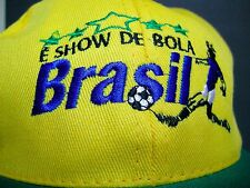 Brazil Brasil Soccer Hat E show de bola Brazil Cap NWOT Yellow Green Adjustable