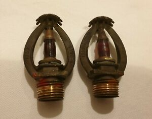 2 x old/vintage fire sprinklers Grinnell1969 type f