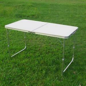 Folding Picnic Camping Table 4FT Lightweight Aluminum Portable Home BBQ Outdoor