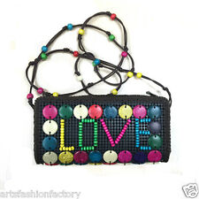 Women's Girl's Handemade Coco Shell Handbag Wallet Love Bag  Evening Bag