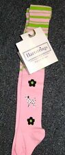 New Hartstring pink green tights 1SZ girls 12-24m dog