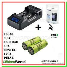 Caricabatterie XTAR VP2 funzione power bank +2 Pile LiFePO4 Lithiumwerk 26650