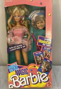 Vintage 1988 Mattel Style Magic Barbie Doll #1283 with Wondracurl Hair - NIB