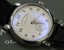 A. Lange & Sohne 1815 40mm Platinum Watch Manual Wind with Box & Papers 233.025