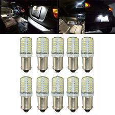 10x T4W BA9S T11 3014 LED Bulb Car License Side Light Interior Lamp White DC 12V