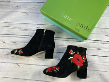 £300 Kate Space Ankle Boots, Black Suede Shoes, Size 6,5 UK, 41,5 EU, 9 US