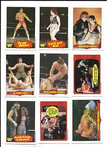 1985 OPC World Wrestling Fed:Lot of 9 diff. incl. #63 Randy Savage & Elizabeth