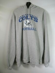 H0177 REEBOK Men's Indianapolis Colts NFL Team Pull Over Hoodie Sz XL