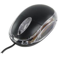 Negro USB 3 botones del ratón óptico de PC/computadora con la rueda de desplazamiento
