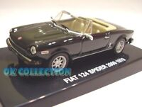 Modellino 1:43 FIAT 124 SPIDER 2000 (1979) black color nero -DEAGOSTINI (NO BOX)