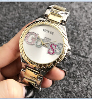 New Fashion Bear Watch Women Dress Stainless Steel Color Letter Wrist Watches