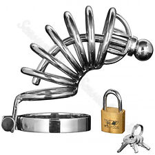 Male Steel Locking Chastity Cage Sensual Desire Asylum 6