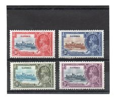 Gambia GV 1935 Silver Jubilee set sg 143-46 HH.Mint