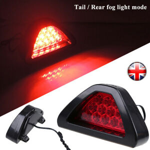 DC12V F1 Style 12-LED Car Vehicle Triangle Red Low Third Brake Stop Light Lamp