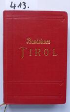 Baedeker Tirol 1926 ( W.)