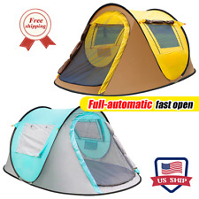 Outdoor 3-4 Person Waterproof Instant Boat Tents Camping Automatic Pop Up Tent