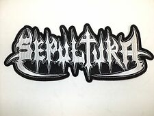 SEPULTURA OLD LOGO   EMBROIDERED BACK PATCH