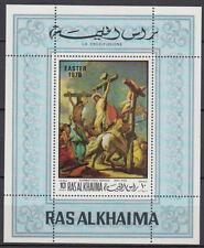 Ras al Khaima 1970 ** Bl.80 A Ostern Easter Gemälde Paintings Tiepolo Religion