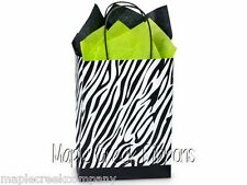 Zebra Print Paper Gift Bag Set of 5