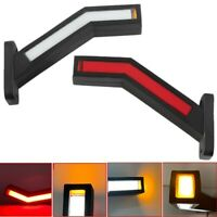 2PCS Trailer LED Side Marker Truck Light Van LED Lights Flowing Lamp 12-24V