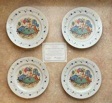 "Lenox Disney Classic Winnie the Pooh 4 Dessert Plates ""Birthday"" Nib Tigger +"
