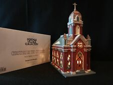 """Dept 56 Christmas in the City """"Holy Name Church"""" retired 2003"""