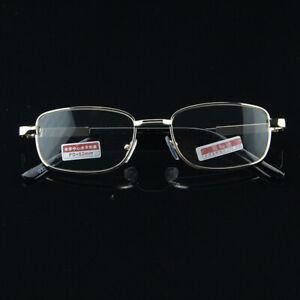 Men's Reading Glasses +4.50 +5.00 +5.50 +6.00 Highly Strength Gold Metal Frame