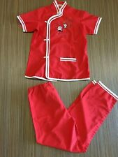 Gently Worn Chinese panda red pyjama set kids size 14