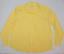 Womens 18 Orvis LS Wrinkle Free 100% Yellow Cotton Shirt