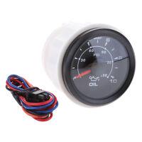 """2"""" 52mm 7 Color LED Oil Pressure Gauge Oil Pressure Press Meter for Car Boat"""