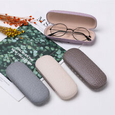 Fashion Reading Eyewear Case Leather Eye Glasses Hard Shell Protector Sunglasses
