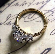 Women Fashion 925 Silver Rings Retro Three Stone Jewelry Cushion Cut Size 5-11