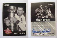 1992-93 Score Maurice Richard 0916/1250 stanley cup heroe auto autograph RARE