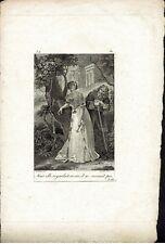 LE JEUNE - MARTINET -  Incisione su rame XIX secolo - Rif. 282  V