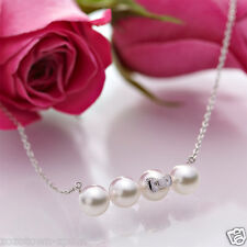 Hello Kitty Silver 925 x Natural Akoya Cultured Glossy Pearl Necklace Pendant