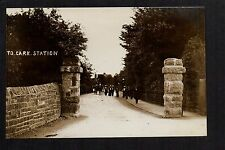 To Cark Station - real photographic postcard