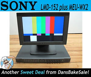 Sony LMD-152 LCD Monitor with MEU-WX2 Multi-Format Engine Unit plus Option Card