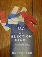 Biden/Harris Election Night Supporter Credential Badge with confetti from 11/07*